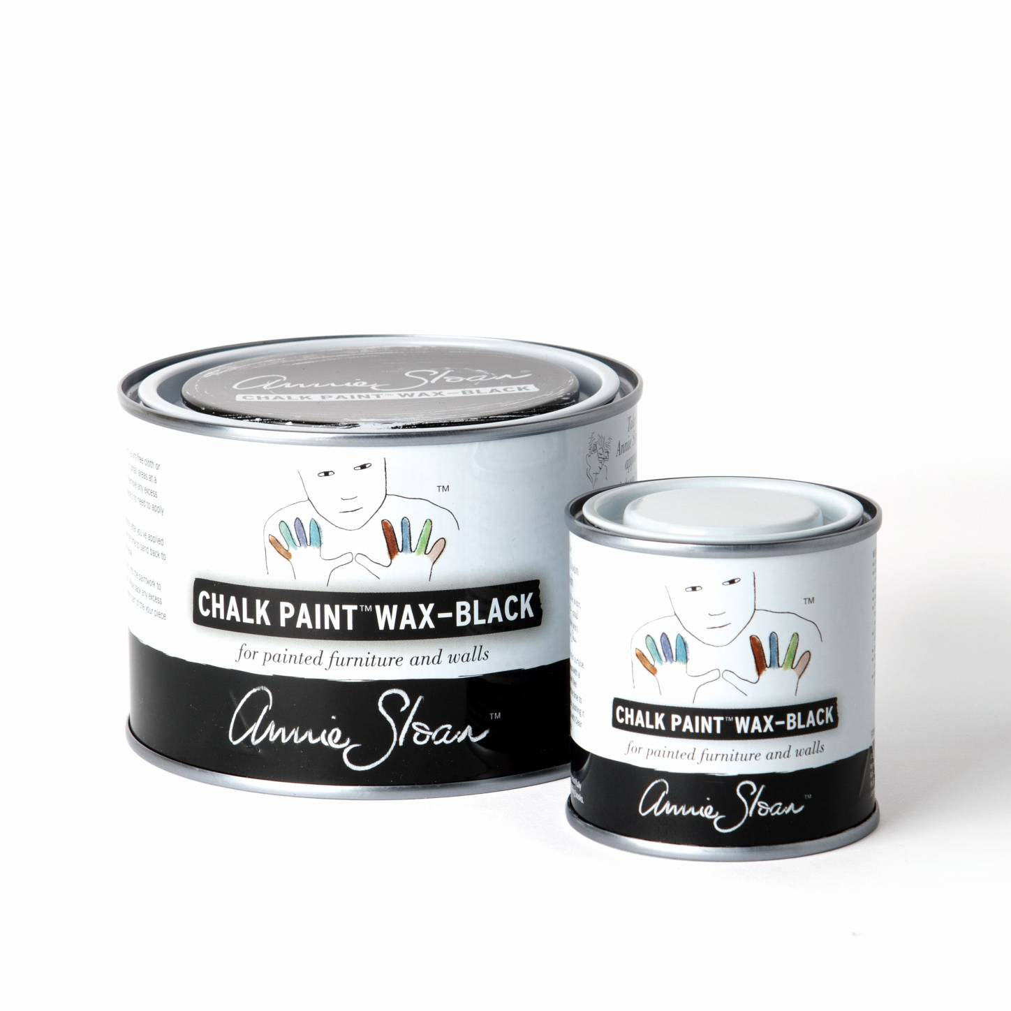 Black Chalk Paint Wax Group 500ml and 120ml
